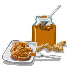 Peanut butte jar vector
