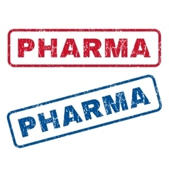 Pharma rubber stamps vector