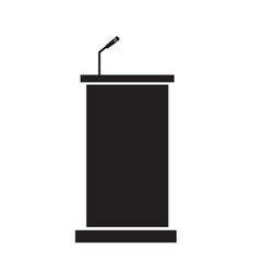Podium icon on white background podium sign vector