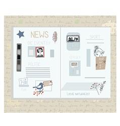 Retro newspaper design elements - funny vector image vector image