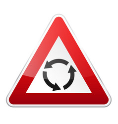 road red sign on white background road traffic vector image