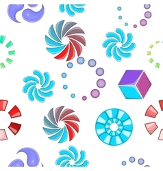Sign download pattern cartoon style vector image