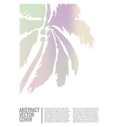 Tropical cover flat eco placard vector