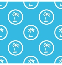 Vacation sign blue pattern vector image