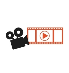 video application icon vector image vector image