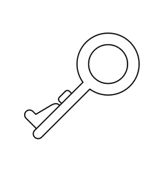 key security system technology outline vector image