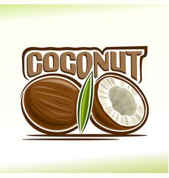 Coconut still life vector
