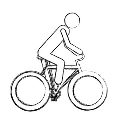 monochrome sketch pictogram of man in sport vector image