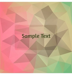 Polygon design vector