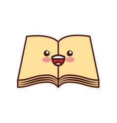 text book school kawaii character vector image