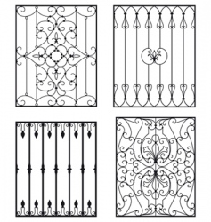 wrought iron vector image