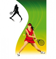 Woman in tennis vector
