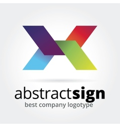 Abstract logotype concept isolated on white vector