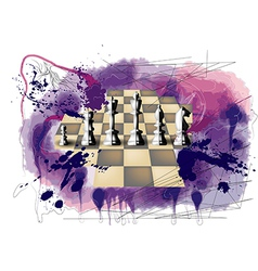 Grunge chess vector