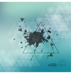 Abstract blurred background with hipster triangles vector