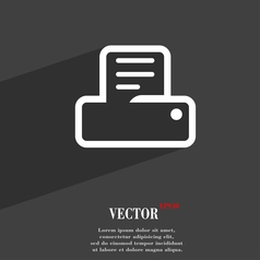 Printing icon symbol flat modern web design with vector