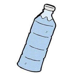 Comic cartoon water bottle vector