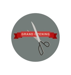 Grand opening icon with scissors vector