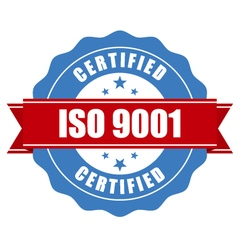 Iso 9001 certified stamp - quality standard seal vector