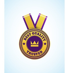 Colorfull badge best quality trusted with sing vector