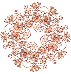 Mehendi ornament vector