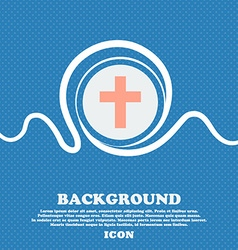 Religious cross christian icon sign blue and white vector