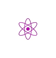 Abstract physics science model icon vector