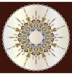 Antique ottoman turkish pattern design seventy vector
