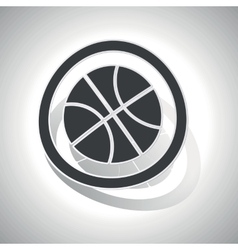 Basketball sign sticker curved vector image