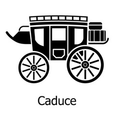 carriage icon simple black style vector image