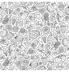 Cartoon summer time seamless pattern vector image vector image