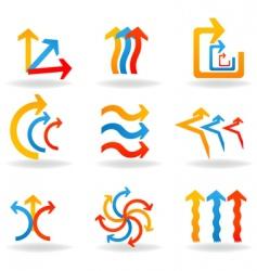 designer arrows vector image vector image