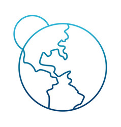 earth world symbol vector image vector image