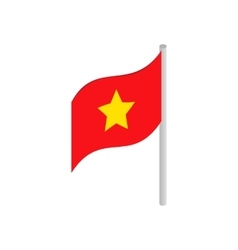 Flag of Vietnam icon isometric 3d style vector image vector image