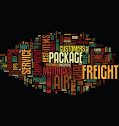 Graf air freight text background word cloud vector
