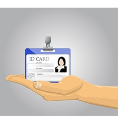 Hand holding an ID Card vector image