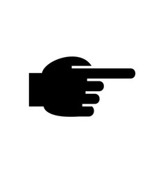 hand pointing finger front icon vector image