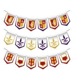 heraldic bunting flags vector image vector image