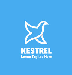 kestrel abstract sign emblem or logo vector image vector image