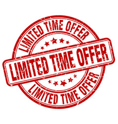 limited time offer vector image