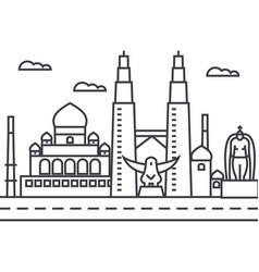 malaysiakuala lumpur line icon sign vector image