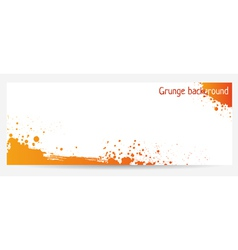 orange grunge vector image vector image