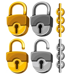 Padlock set vector image