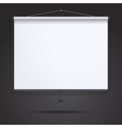 Presentation empty projection screen vector
