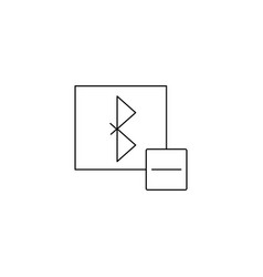 Remove bluetooth icon vector