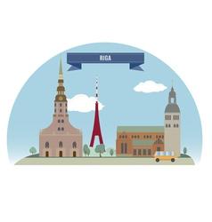 Riga vector image vector image