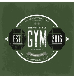 Round print for t-shirt advertising gym vector
