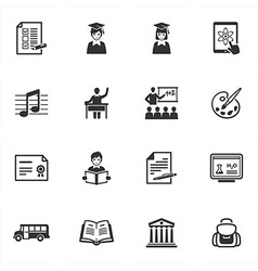 School and Education Icons - Set 2 vector image vector image