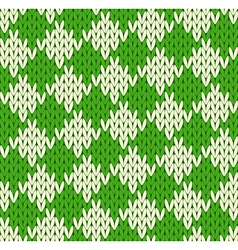 Seamless geometrical knitted pattern vector
