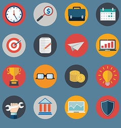 Set of various financial service items web and vector image vector image